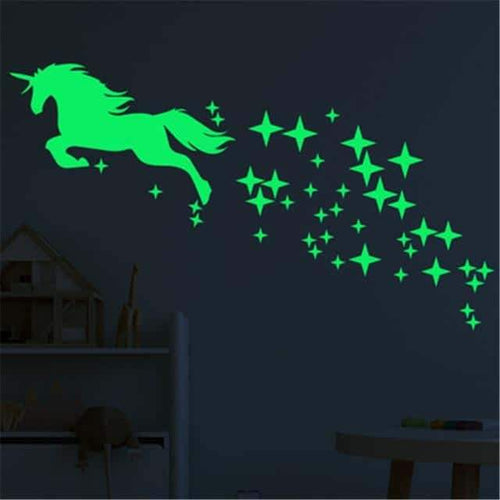 stickers licorne dab, Stickers licorne <br> luminescent - frdujiaoshou1