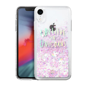 unicorn glitter coque iphone xr coque