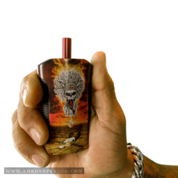 "Chuck Billy of Testament Signature Series ""War Drum"" 2-in-1 vaporizer for cannabis wax concentrates herb pot weed"