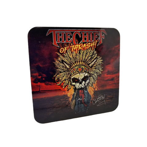 Chuck Billy The Chief Of Thrash! merchandise collection beverage coasters gifts for metal heads