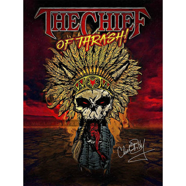 Chuck Billy The Chief Of Thrash Merchandise Collection Poster gift him her metal head