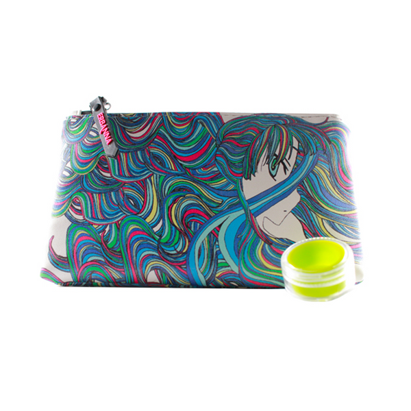 Summer graphic smell resistant stash case zipper to not only lock in the smell but now you won't be surprised as to which direction your pipe is facing as it's easily visible when you open the case.