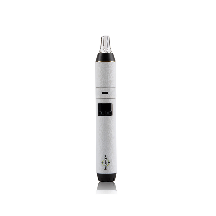 Focusvape Pro Premium Herb Bubbler Kit White  modestly-priced model even comes with its' own bubbler attachment