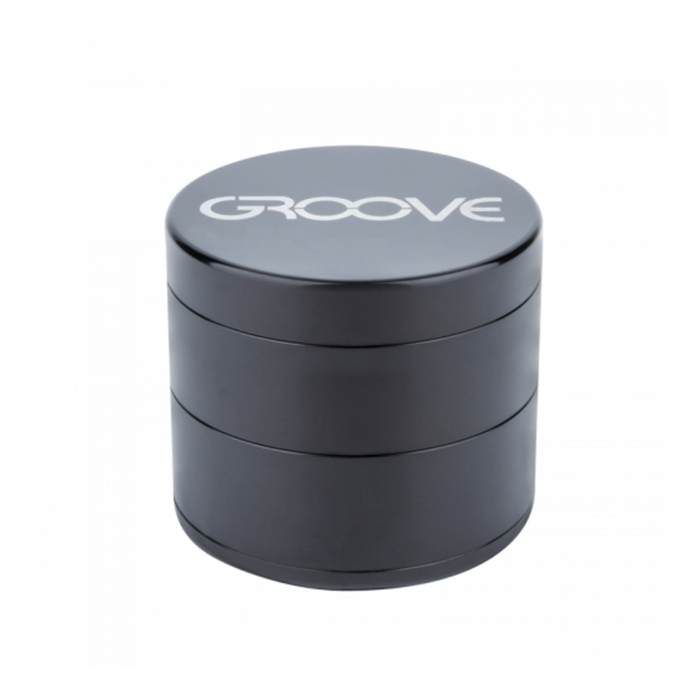 Groove 4-piece Grinder Kief Black Groove 4-piece CNC Grinder/Sifter requires minimal herb preparation-delivers a light, feathery end-grind, separating unwanted material-optimal purity.