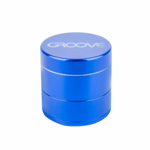 Groove 4-piece Grinder Kief Blue Groove 4-piece CNC Grinder/Sifter requires minimal herb preparation-delivers a light, feathery end-grind, separating unwanted material-optimal purity.