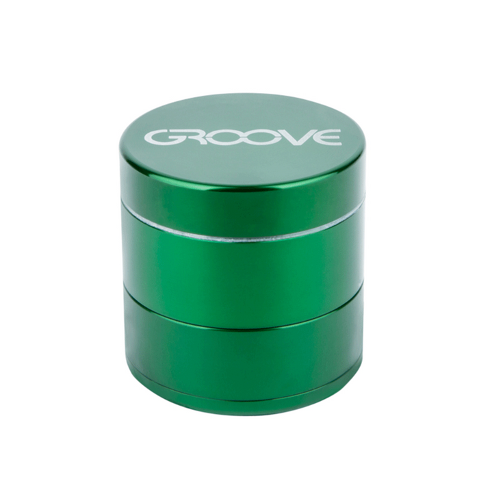 Groove 4-piece Grinder Kief Green Groove 4-piece CNC Grinder/Sifter requires minimal herb preparation-delivers a light, feathery end-grind, separating unwanted material-optimal purity.