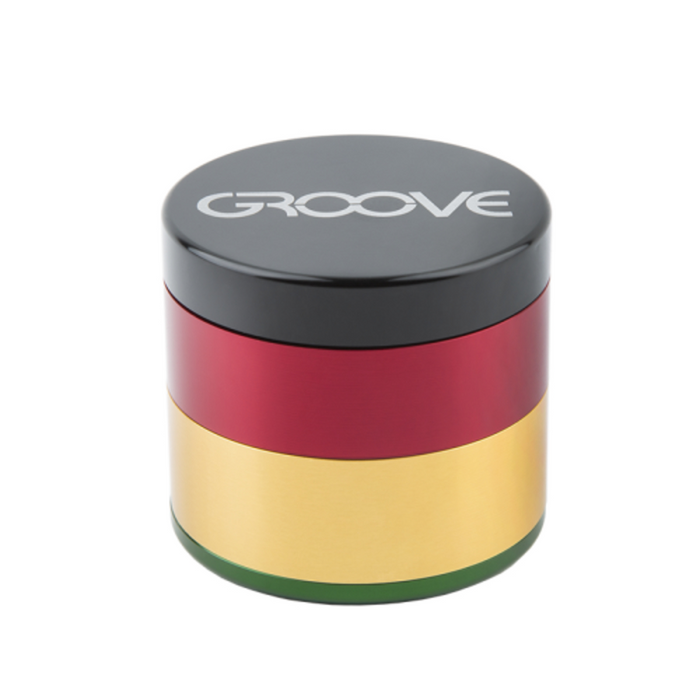 Groove 4-piece Grinder Kief Rasta Groove 4-piece CNC Grinder/Sifter requires minimal herb preparation-delivers a light, feathery end-grind, separating unwanted material-optimal purity. closed