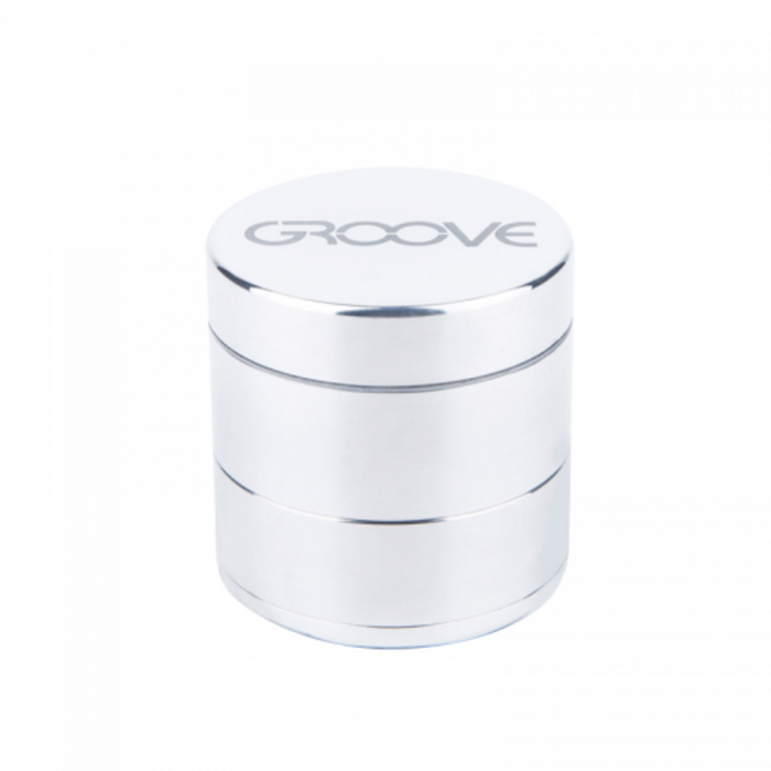 Groove 4-piece Grinder Kief Silver Groove 4-piece CNC Grinder/Sifter requires minimal herb preparation-delivers a light, feathery end-grind, separating unwanted material-optimal purity.