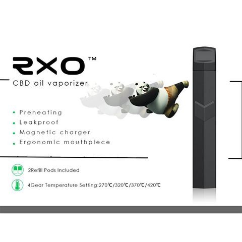 IMAG RXO CDB/Hemp Oil vaporizer black refillable  Portable, discreet vaporizer for your favorite Hemp/CBD oil, the RXO vaporizer is just what you're looking for!