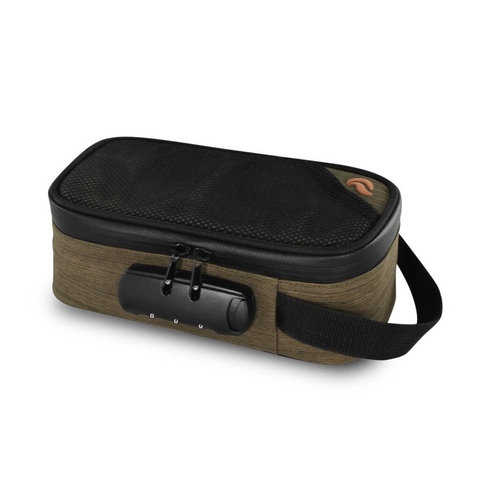Skunk Sidekick smell-proof locking carry bag green