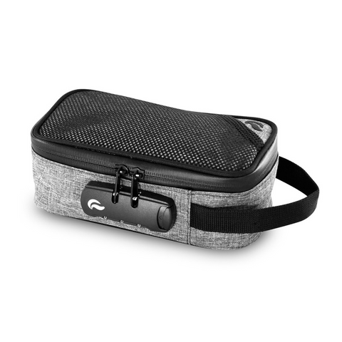 Skunk Sidekick smell-proof locking carry bag grey