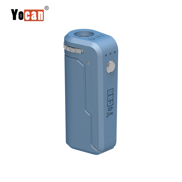 Yocan UNI Box Mod Universal Portable Vaporizer THC Oil Cartridges CBD Oil Cartridges Vape Pen Battery Yocan UNI 510-thread box battery offers ultimate protection and discretion for your oil cartridges Airy Blue
