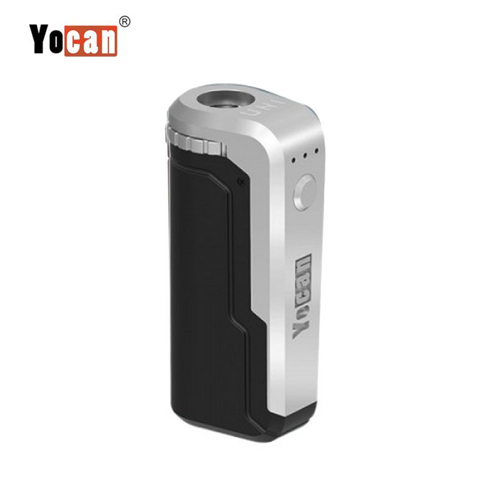 Yocan UNI Box Mod Universal Portable Vaporizer THC Oil Cartridges CBD Oil Cartridges Vape Pen Battery Yocan UNI 510-thread box battery offers ultimate protection and discretion for your oil cartridges Black/Silver