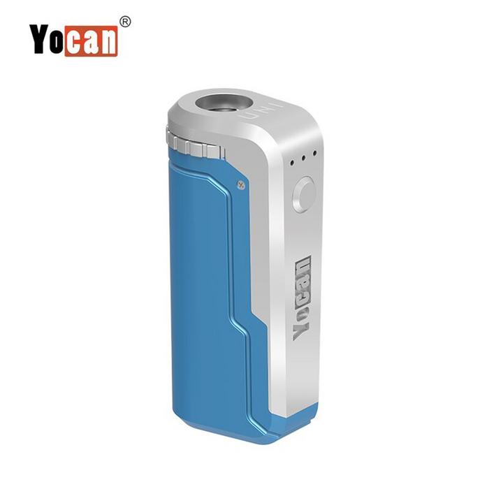Yocan UNI Universal Portable Vaporizer Box Mod THC Oil Cartridges CBD Oil Cartridges Vape Pen Battery Yocan UNI 510-thread box battery offers ultimate protection and discretion for your oil cartridges Blue
