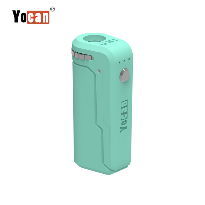 Yocan UNI Box Mod Universal Portable Vaporizer THC Oil Cartridges CBD Oil Cartridges Vape Pen Battery Yocan UNI 510-thread box battery offers ultimate protection and discretion for your oil cartridges Mint Green