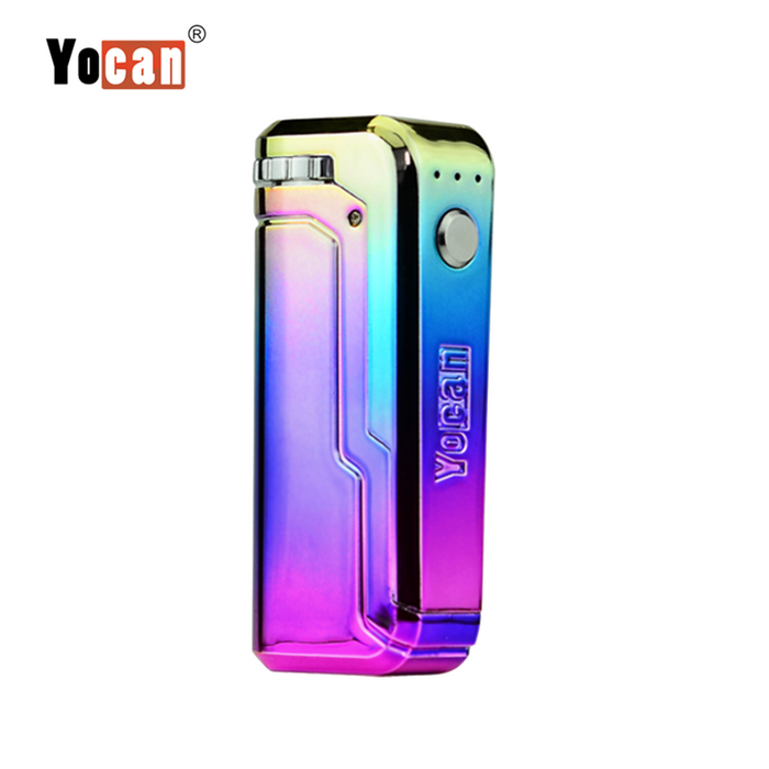 Yocan UNI Box Mod Universal Portable Vaporizer THC Oil Cartridges CBD Oil Cartridges Vape Pen Battery Yocan UNI 510-thread box battery offers ultimate protection and discretion for your oil cartridges Rainbow