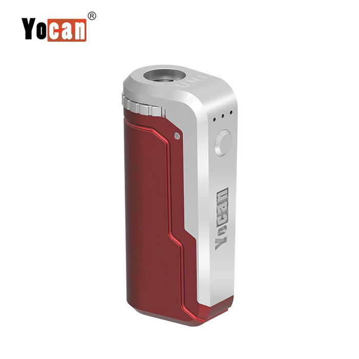Yocan UNI Universal Portable Vaporizer Box Mod THC Oil Cartridges CBD Oil Cartridges Vape Pen Battery Yocan UNI 510-thread box battery offers ultimate protection and discretion for your oil cartridges Red