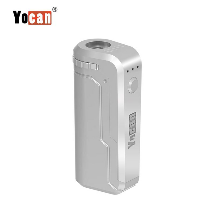 Yocan UNI Universal Portable Vaporizer Box Mod THC Oil Cartridges CBD Oil Cartridges Vape Pen Battery Yocan UNI 510-thread box battery offers ultimate protection and discretion for your oil cartridges Silver
