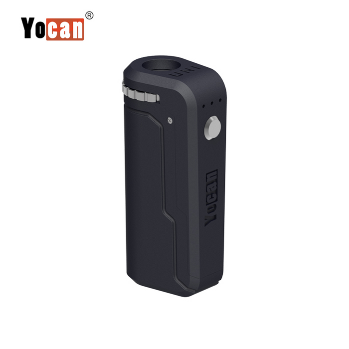 Yocan UNI Box Mod Universal Portable Vaporizer THC Oil Cartridges CBD Oil Cartridges Vape Pen Battery Yocan UNI 510-thread box battery offers ultimate protection and discretion for your oil cartridges Smoky Gray