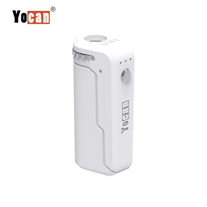 Yocan UNI Box Mod Universal Portable Vaporizer THC Oil Cartridges CBD Oil Cartridges Vape Pen Battery Yocan UNI 510-thread box battery offers ultimate protection and discretion for your oil cartridges White
