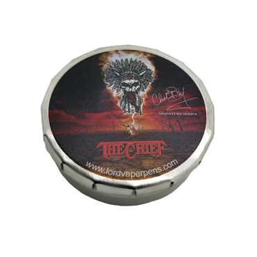 Lord Vaper Pens The Chief Signature Series War Drum Pop Top Containers for storing cannabis weed pot