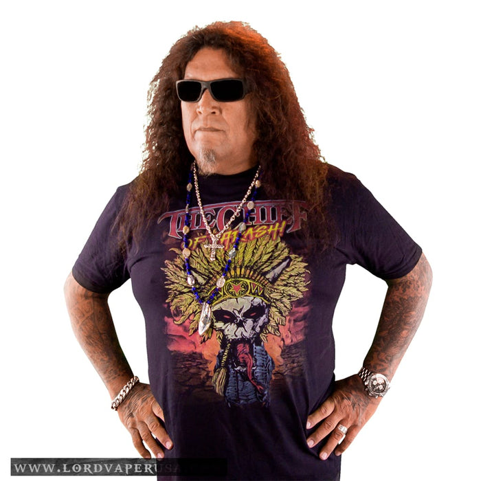 Chuck Billy The Chief Of Thrash Merchandise Collection T-Shirt gift him her metal head