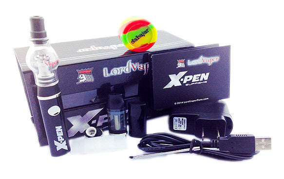 X-PEN Supreme Vaporizer Kit for dry aromatic grinds, waxy aromatherapy oils and essential oil/e-juice plus a free Dabajar.