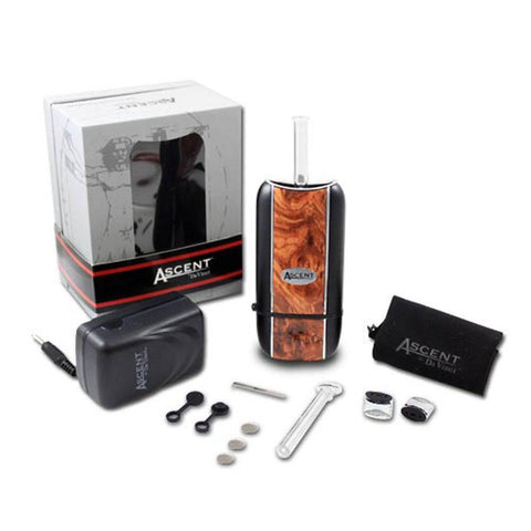 DaVinci Ascent 2-in-1 Vaporizer Kit Ascent Vaporizer 2x Glass Mouthpiece Stems 2x Glass Internal Stems Carrying Satchel