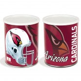 Arizona Cardinals 3 gallon popcorn tin