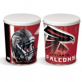 Load image into Gallery viewer, Atlanta Falcons 3 gallon popcorn tin