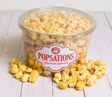 Load image into Gallery viewer, Clear Tub Popsations Popcorn Classic Caramel Popcorn