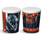 Chicago Bears 3 gallon popcorn tin
