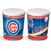 Load image into Gallery viewer, Chicago Cubs 3 gallon popcorn tin