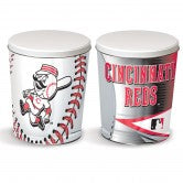 Load image into Gallery viewer, Cincinnati Reds 3 gallon popcorn tin