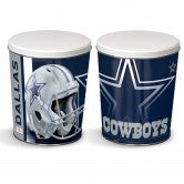 Dallas Cowboys 3 gallon popcorn tin