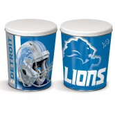 Detroit Lions 3 gallon popcorn tin