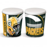Green Bay Packers 3 gallon popcorn tin