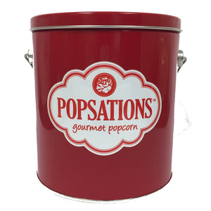 Popsations 1 Gallon Red Popcorn Tin