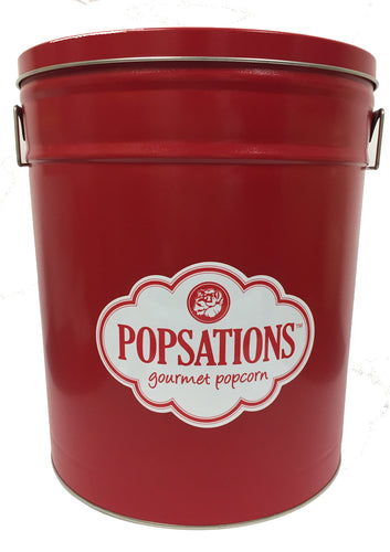 Popsations 6.5 Gallon Red Popcorn Tin