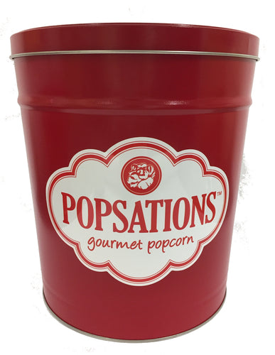 Popsations 3.5 Gallon Red Popcorn Tin
