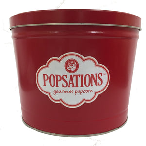 Popsations 2 Gallon Red Popcorn Tin