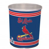 Load image into Gallery viewer, St. Louis Cardinals 1 gallon popcorn tin