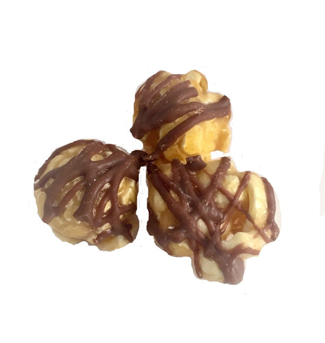 Popsations Milk Chocolate Caramel Drizzle gourmet Popcorn