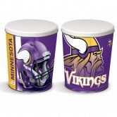 Minnesota Vikings 3 gallon popcorn tin