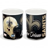 New Orleans Saints 3 gallon popcorn tin