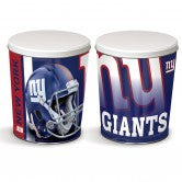 New York Giants 3 gallon popcorn tin