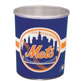 New York Mets 1 gallon popcorn tin