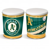 Load image into Gallery viewer, Oakland Athletics 3 gallon popcorn tin
