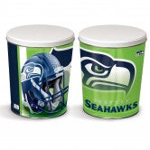Seattle Seahawks 3 gallon popcorn tin