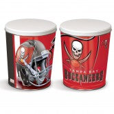 Load image into Gallery viewer, Tampa Bay Buccaneers 3 gallon popcorn tin